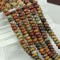 beads abacus - Fashion Natural stone Picasso jasper abacus gemstone loose bead Spacer bead quot x4 x5 x5mm pick