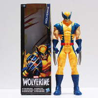 Wholesale Marvel Super Hero X men Wolverine Iron Man PVC Action Figure Collectible Toy quot CM Retail