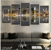 art deco city - 2016 Fallout Oil Painting No Frame Panels Modern City Views Picture Canvas Painting Wall Art For Home Deco