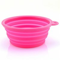 Wholesale Pet Dog Cat Fashion Silicone Collapsible Feeding Feed Water Feeders Foldable Travel Food Bowls Dish colors Frisbee ZD036A