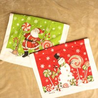 Wholesale New Father Christmas Cotton Towel Snowman Cut Pile Face Towel Xmas Tea Towel x41cm Friend Gift RY1514