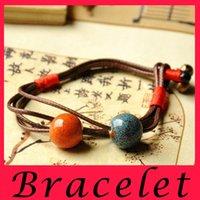 bell pop - 2016 China Jingdezhen ceramics Beaded Bracelet Fashion jewelry color pop Bohemia vintage retro classic Charmbracelet ethnic Little bell