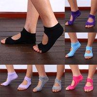 Wholesale Newly Design High Quality Finger Toes Cotton Breathable Ankle Women Sock Non Slip Exercise Pilates Massage Toe Socks
