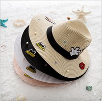 active stickers - 2016 Spring and summer hat female shopping Mickey cartoon stickers cloth England straw hat visor child