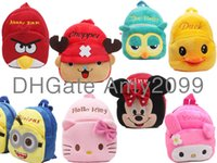 Wholesale Chopper cute animal the heris years backpack mini baby early childhood small bags cute little toy bag plush backpack kids schoolbag bag