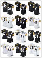 antonio brown steelers - 2016 hot sale women football Jerseys Pittsburgh cheap Steelers jerseys Antonio Brown elite authentic football shirt size S XL