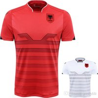 Wholesale 2016 Albania soccer jerseys home RED black away white shirts size extra small XXL xl top qulity