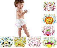 Wholesale cartoon baby training pants waterproof diaper pant potty toddler panties newborn underwear Reusable training pants designs