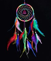 antique cars india - 2016 Colorful Feather Wall Hanging Decoration Handmade Dream Catcher Car Pendant Gifts Home Decor
