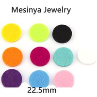 Wholesale 10 Colors mm Essential Oils Diffuser Lockets refill felt Pads Perfume Aroma Locket Replacement Pads Round