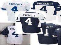 throwback football jersey - Elite Football Stitched Draft Cowbboys DAK PRESCOTT White Blue Thanksgiving Throwback Jerseys Mix Order