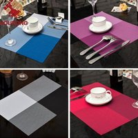 Wholesale 1Pcs cm Fashion Modern PVC Dining Table Placemat Europe Style Kitchen Tool Tableware Pad Coaster Coffee Tea Place Mat