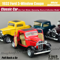big coupe - 1 Scale Diecast Alloy Metal Classic Car Model For Ford Three Window Coupe Collectible Model Collection Toys Car