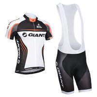 Short bicycle sleeves - top quality giant Pro cycling clothing polyester quick dry short sleeve cycling jersey bike shorts set summer BICYCLING Maillot Culotte