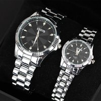 battery for drill - DHL Fashion crystal drill dial Watch Quartz Watches For men ladies stainless steel Watches manufacturer direct