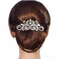 Wholesale 2016 hot New fashion Design Pearl Bridal Hair Jewelry Charm Silver Plated Crystal Hair Combs Hairpin Wedding Hair Accessories For Womenfh007