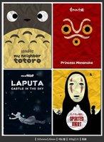 animate world - New Cute Hayao Miyazaki s classic posters Japan style animated World