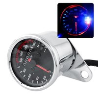 Wholesale Motorcycle Motor Motorbike Dual Odometer Speedometer Gauge Silver LED Backlight Background Signal Light V