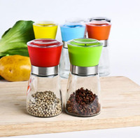 Wholesale New Glass Manual Reusable Pepper Salt Spice Grinder Mill Hand Pepper Herb Mill Good quality JF