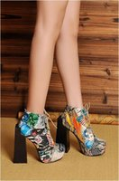 b m security - Fashion As Jeffrey Campbell Lita Security Platform Heels Ankle Boots Graffiti Womens Lace Up Chunky Heel Motorcyle Martin Boots Single Shoes
