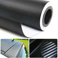 Wholesale 1 x30m Roll D Carbon Fiber Vinyl Film Wrap Roll Air Bubble Free PVC Self adhesive D Car Sticker