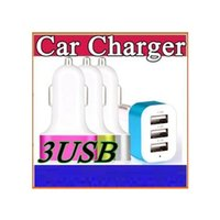 Wholesale 2016 For iPhone s car charger traver Adapter car plug hot selling Triple usb ports Car Charger with No package I CC