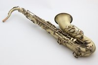 Wholesale France Selmer B Flat Tenor Saxophone Bb Top Musical Instrument Saxe Antique Copper Simulation Wire drawing Process Sax