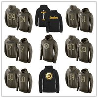 antonio american - 2016 warm Pittsburgh cheap Steelers American football hoodies Ben Roethlisberger sweatshirts Antonio Brown hoodies size M XL