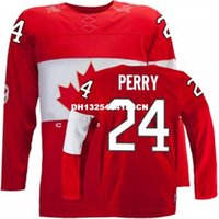 Cheap Retro throwback #24 COREY PERRY Team Canada Jersey OLYMPIC HOCKEY Fast free shipping Customize any size player name number