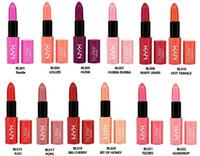 brand lip stick - 12PCS NYX Butter Lipstick Colors Batom Mate Waterproof Long lasting Lipstick ny Tint Lip Gloss Stick Brand Makeup Maquillage