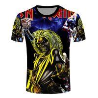 band tees - Men Hip Hop Rock Band T Shirts Fashion d Iron Maiden Printing T shirts New Vintage Cool Top Tees Camisetas Large Size XL