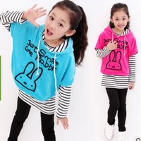 Wholesale Spring and Autumn Girls Three Piece Clothing Sets Children s Clothing Sets Striped Ban Shirt Leisure Kids Clothes Sets ly002