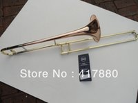 b flat trombone - Bach B Flat Alto Trombone Phosphor Copper Surface Gold Lacquer Trombone Alto Musical Instrument tuba With Case