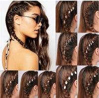 Wholesale 5 pieces a bag fashionable hair clips ponytail african braide hairpins shells cross stars circle bang hair styling