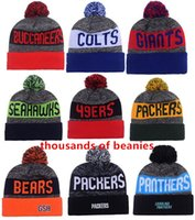 adult album - 2016 New Beanies American Football team Sports beanie for men Knitted Hats drop shippping Snapbacks Hats album offered B3