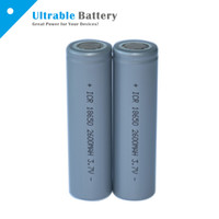 Wholesale High Quality Flat top Battery mAh V Li Ion Rechargeable Battery for Flashlight VS LG HE4 HG2 MJ1 A Sony VTC5 VTC4