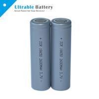 Wholesale High Quality Flat top Battery mAh V Li Ion Rechargeable Battery for Flashlight VS LG HE4 HG2 MJ1 A Sony VTC5 VTC4
