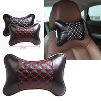 Wholesale Automotive Microfiber Leather Car Neck Pillow Interior Products Car Neck Protect The White Lines Red Piece
