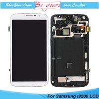 Cheap LCD For Samsung Mega 6.3 i9200 Display Digitizer with Touch Screen Assembly with Frame Repair Part DHL Free Shipping