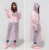 Wholesale 60pcs EVA Dot Environment Safety Raincoat With Hood For Men And Women Outdoor Rainwear Waterproof Poncho Over Knee Length Rain Coat ZA0485