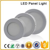 aluminum plate panels - LED Surface Mounted panel light W W W AC85 V LED round smd side downlight with aluminum and acrylic light guide plate