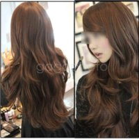 Wholesale Sexy Womens Girls Fashion Style Wavy Curly Long Hair Girl Full Wigs Light Brown wig jokes