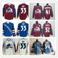 anderson red - High quality Colorado Cheap Hockey Jerseys Avalanche ROY ANDERSON FOOTE JONES drop shipping freeshipping