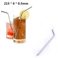 Wholesale 100pcs Durable Stainless Steel Drinking Straw Straws Metal for Bar Family kitchen