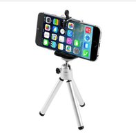 Wholesale High Quality set Universal Mini Stand Tripod Mount Holder for iPhone Plus S C for SamSung
