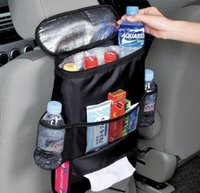 Wholesale Auto assorted Pouch Insulated Seat Organizer hanger back car Insulated Food Storage Container Basket Bag Stowing Tidying Holder Multi Pocket
