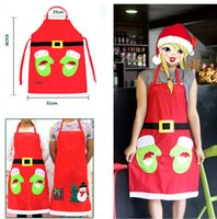 Wholesale cute aprons Aprons Home Textiles Christmas decoration general apron restaurant hotel waiter dress up for Christmas