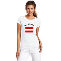 austria clothes - New Arrivals AUSTRIA Football Fans Cheer T Shirt Women Clothing European Cup Cotton Sports National Flag Tops Tees