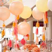 balloon banner - 5pcs cm Tissue Paper Tassel Ribbon Garland Wedding Decor Crafts Party Home Events Festival Supplies Balloons Ribbon Banners JM0240