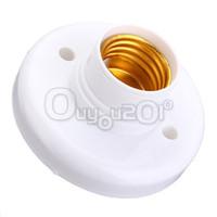 Wholesale New Big Promotion E27 Screw Base Round Light Bulb Lamp Socket Holder Adapter